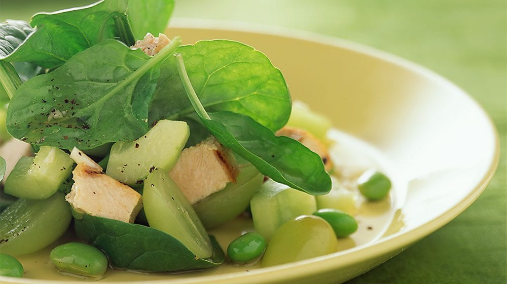 Asian Spinach and Grape Salad