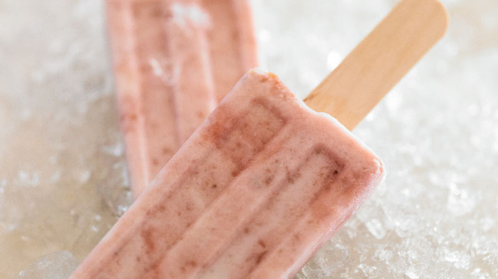Grape, Honey & Yogurt Pops