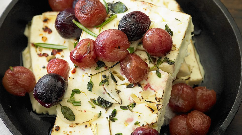 VIDEO: Baked Feta Cheese with Roasted Grapes