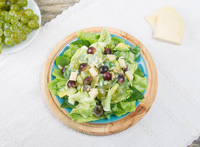 Salad with Grapes, Almonds and Avocado