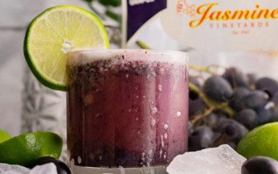 Frozen Black Grape Mocktail Spritzer
